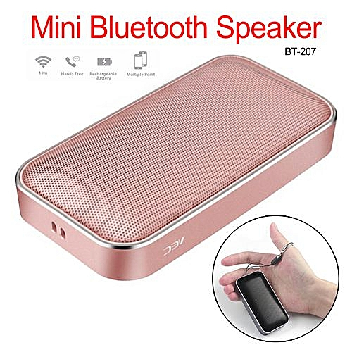 be24774ee0b34a Generic BT207 Wireless Outdoor Portable Ultra-thin Bluetooth Speaker Metal  Cannon Gift Mini Pocket Speaker
