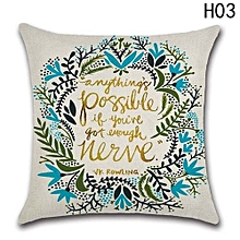 Hequeen  New Home Decoration Wreath Flower Printed Pillowcase Pillow Cover Sofa Car Cushion Cover