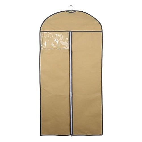 15ad7f088f86 Garment Bag Covers For Luggage, Dresses, Linens, Storage Or Travel Suit Bag  With Clear Window, Beige XL