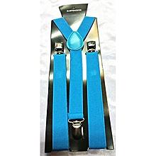 Y- Shaped Adjustable Blue Suspenders