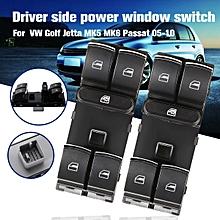Electric Power Window Master Switch for VW Golf Jetta MK5 MK6 Passat CC B6 Caddy