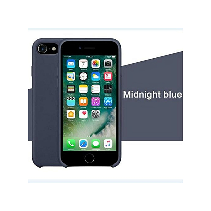 reputable site 855a7 08104 for iPhone X XS phone case Have LOGO Official Style Silicone Case For apple  Cover Capa-Midnightblue