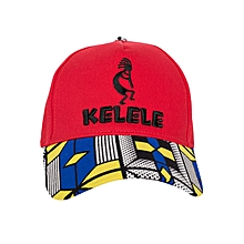 Red And Blue Baseball / Sports Hat With Kelele Color On Brim