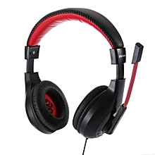 OVANN X4 Wired Gaming Headsets With Microphone Support Volume Control 3.5mm Audio Jack For Computer Mobile Phone Black