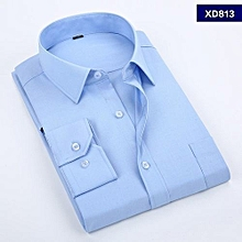 Sky Blue Formal Official Long Sleeved Shirt-Slim Fit