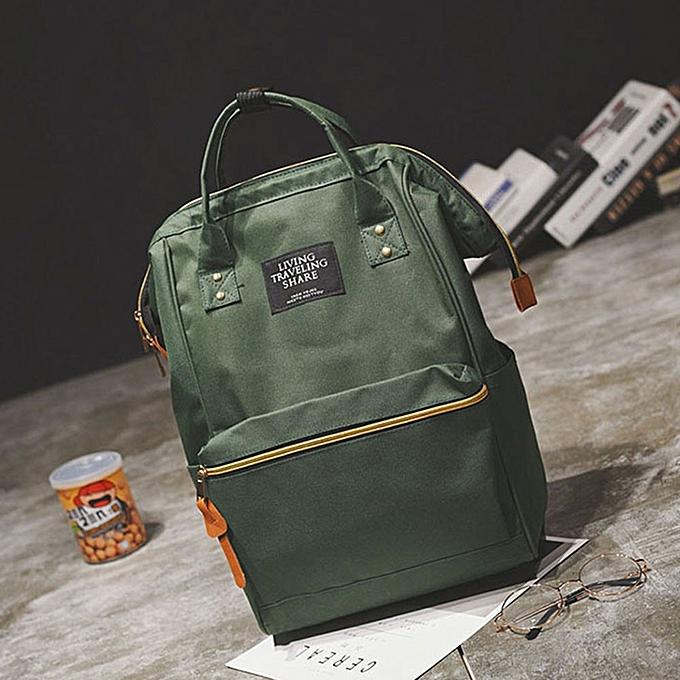 16a70815b6 Hiamok Unisex Solid Backpack School Travel Bag Double Shoulder Bag Zipper  Bag