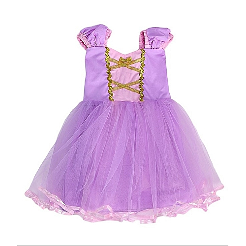 Buy Generic Girls Princess Dress Costume For 3 To 9 Year Old Purple