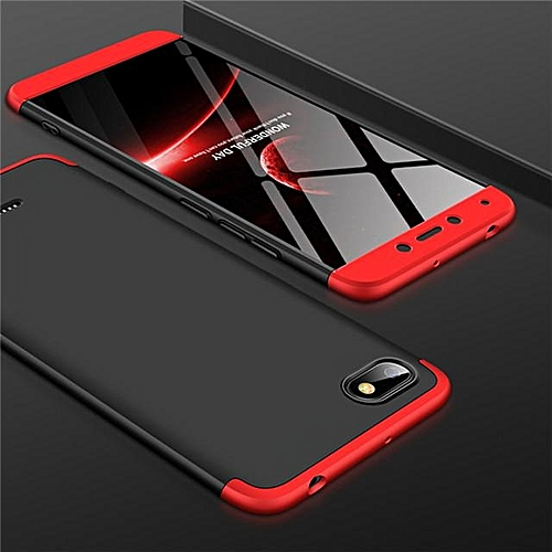 new product b48f1 35742 360 Full Protection Case For Xiaomi Redmi 6A Case Luxury 3 in 1 Hard PC  Shockproof Back Cover For Redmi 6A Coque