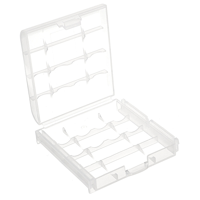 Generic Cr123a Aa Aaa Battery Case Holder Box Storage White