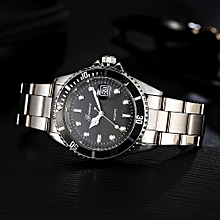 GONEWA Men Fashion Military Stainless Steel Date Sport Quartz Analog Wrist Watch