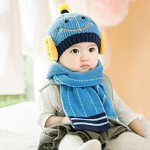 Eissely Baby Cute Winter Kids Baby Hats Keep Warm Set Cute Hat Scarf ... 03497917e4ce