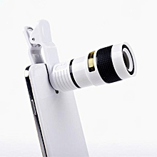 Star Mall Universal Clip-on 8X Optical Zoom HD Monocular Telescope Camera Lens For Mobilephone Tablet