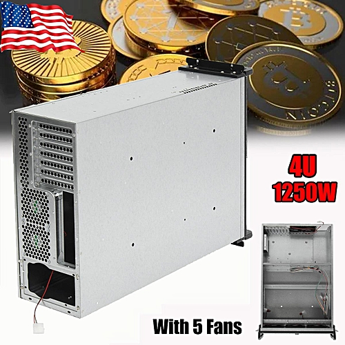 Eugeneq Steel Coin Open Air Miner Mining Frame Rig Case Up to 6 GPU BTC LTC ETH Ethereum New