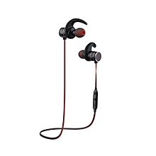 AK9 IPX4 Waterproof Wireless Bluetooth Earphone Stereo Earbuds - Black + Red