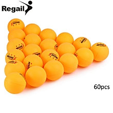 60 Counts 3-star Practice Table Tennis Ping Pong Ball For Advanced Training - Yellow