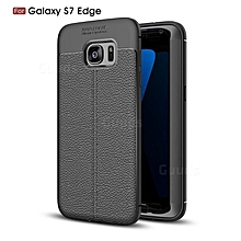 Black rubber Phone cover for Galaxy S7 Edge