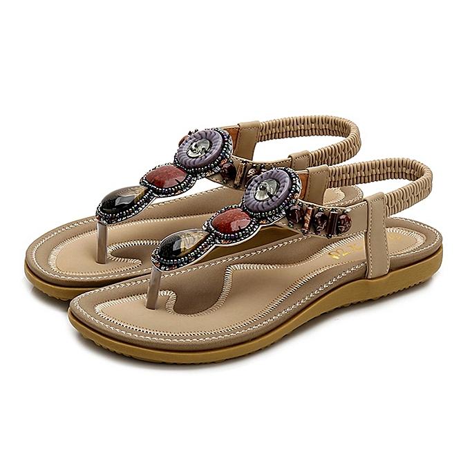 caeb206e1 Fashion TCE Women Ladies Pearl Flat Sandals Beach Casual Shoes ...