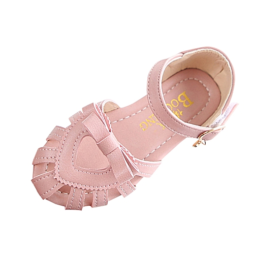 a40fca902c8a08 Fashion Africanmall store Baby Girls Children Sandals Bow Heart Girls Flat  Pricness Beach Casual Shoes- Pink