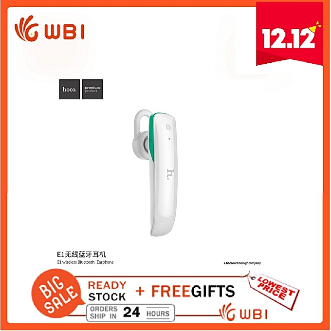 Hoco  E1 wireless Bluetooth V4 1 Earphone Hands-free 10m for Android  multi-point connection DQ-M