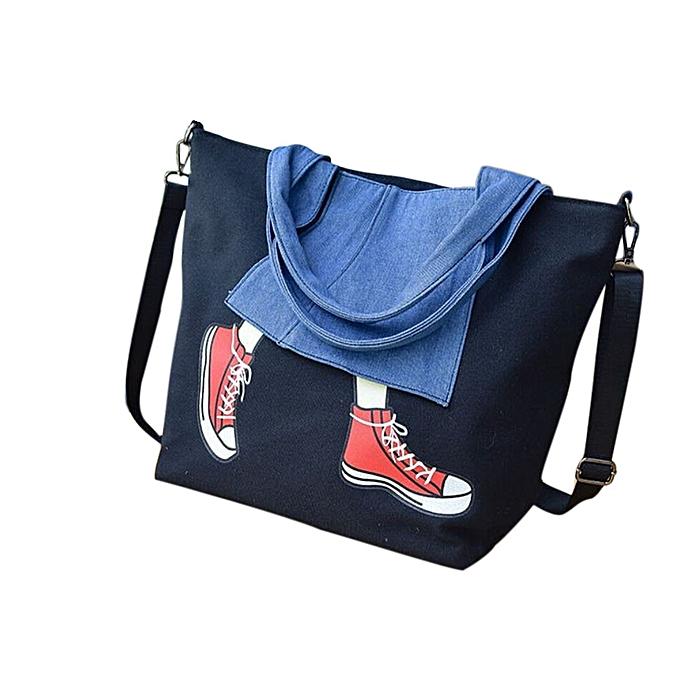 huskspo Women Canvas Handbag Shoulder Purse Satchel Messenger Crossbody Bag  Tote BK b50d8bb9f6760