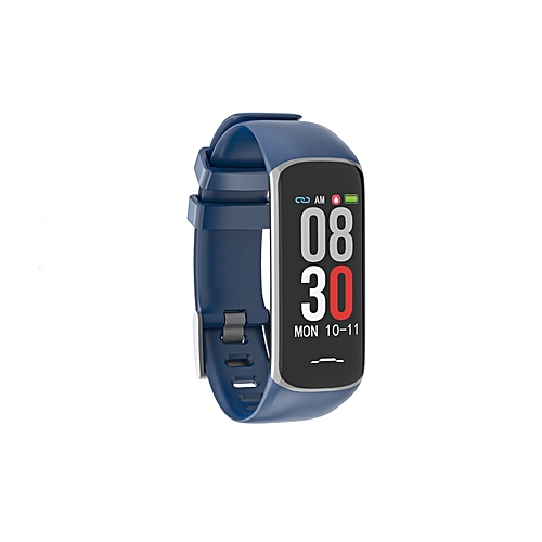 Color Screen Smart Watch 0 96 Inch Continuous Heart Rate Blood Pressure  Sleep Movement Track Call Rejection H Band - Blue