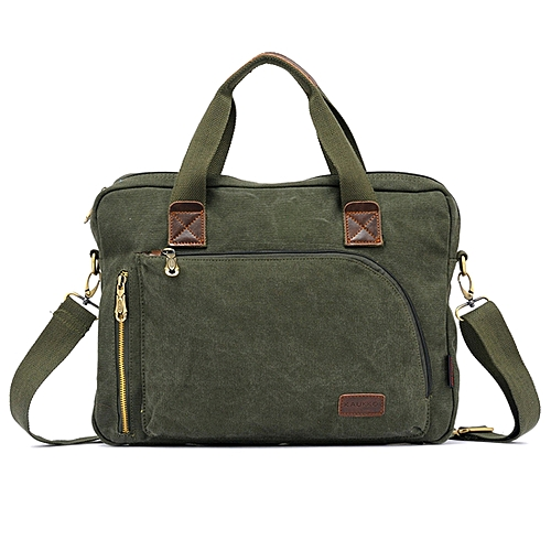 Generic KAUKKO FJ24 Fashion WalkingZone 13-14 inch Canvas Briefcase Laptop  Tablet Notebook Bag Crossbody Bag Shoulder Bag Hand Bag Messenger Bag 12b33873ac0c0