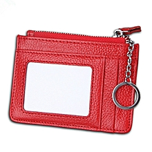 RFID  Genuine Leather Card Holder Small Changes Bag Coin Purse For Men And Women