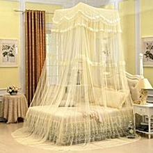 Mosquito Net For Double Decker Beds Free Size - Cream