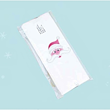 50Pcs/1Set Lovely Cartoon Christmas Santa Claus Snowman Printed Food Packing Bag