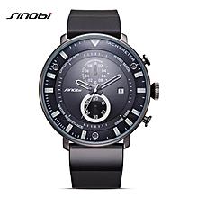 SINOBI Star Wars Ultra Thin Chronograph Mens Wrist Watches Rubber Watchband Brand Males Military Sports Geneva Quartz Clock (Purple) BDZ
