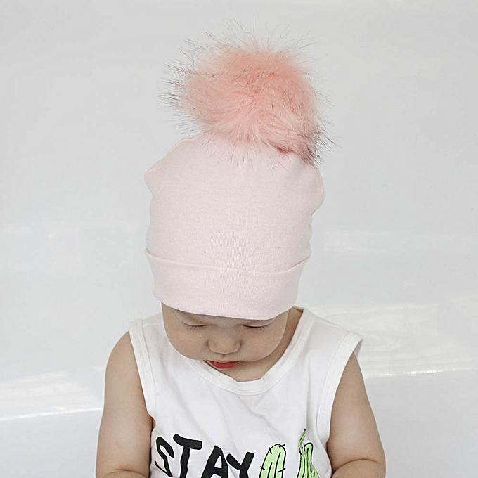 950decee5 Hiaojbk Store Cute Baby Girls Boys Pure Color Toddlers Cotton Sleep Cap  Headwear Hat-Pink