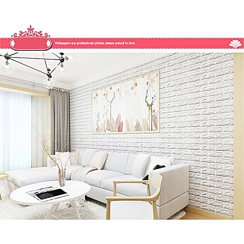 generic lodaon 3d brick wall sticker self-adhesive foam wallpaper