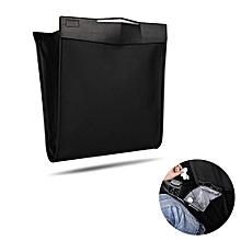 Universal Car Seat Back Leather Garbage Bag Magnetic Folding Hanging Trash Rubbish Box Bag Holder With Plastic Bag