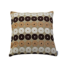 Brown and Beige Circle Design Cushion