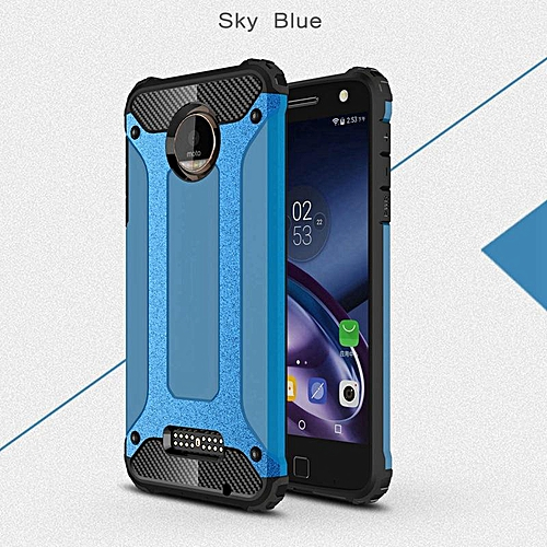 the latest 7bf15 e83b9 For Moto Z Play Cover For Motorola Moto Z Play Case Silicone Rugged Rubber  Heavy Duty Armor Phone Bag Case For Moto Z Play Case (Blue)