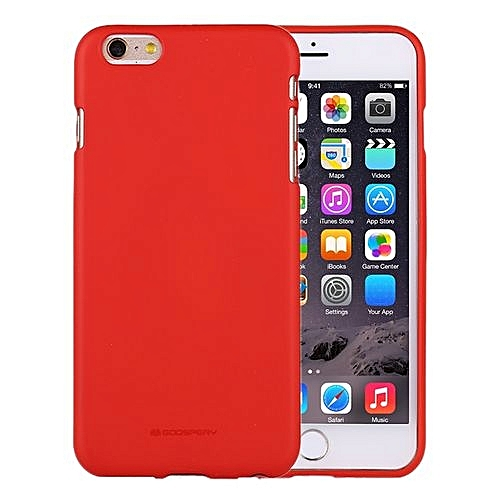 online store f0aa6 ec0bb MERCURY GOOSPERY SOFT FEELING for iPhone 6 Plus and 6s Plus Liquid State  TPU Drop-proof Soft Protective Back Cover Case(Red)