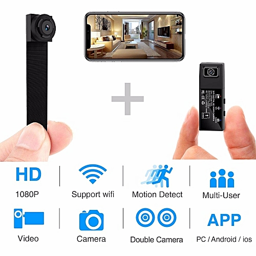HD 1080P DIY Portable WiFi Mini Camera P2P Wireless Micro webcam Camcorder  Video Recorder Support Remote View and Hidden TF card( With 128GB TF