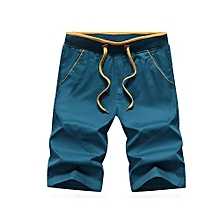 Sports Shorts Men's Summer Ice Floss Super Thin Beach Pants Baggy Pants-Deep Green