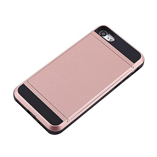 big sale 03db2 ccb66 Slim Card Holder Slot Hard Phone Case For IPhone7 Rose Gold