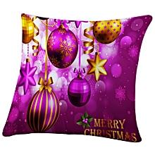 Christmas Rectangle Cushion Cover Silk Square Pillow Case Pillowcase