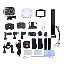 CO 4K Wifi Action Camera 170 Degree Wide Angle Sports DV Waterproof-Black