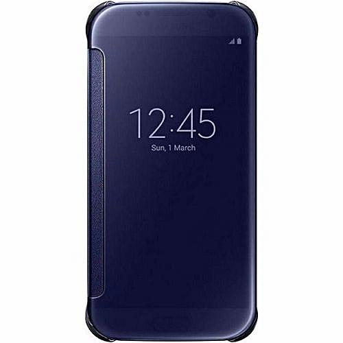 cheaper 559ee 520e4 Samsung Galaxy S6 Edge Fashion Clear View Mirror Screen Flip Case Cover  (Color:Blue)