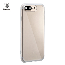 Simple Series Anti-scratch Electroplate Plating TPU Case For IPhone 7 Plus - Transparent