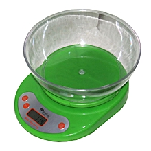 Digital Kitchen Scale 5kg Max - Green
