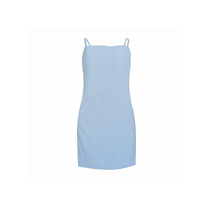 5caab67386f0 New Midi Dress Women s Casual Sleeveless Loose Sexy Ladies Holiday Sun  Dresses