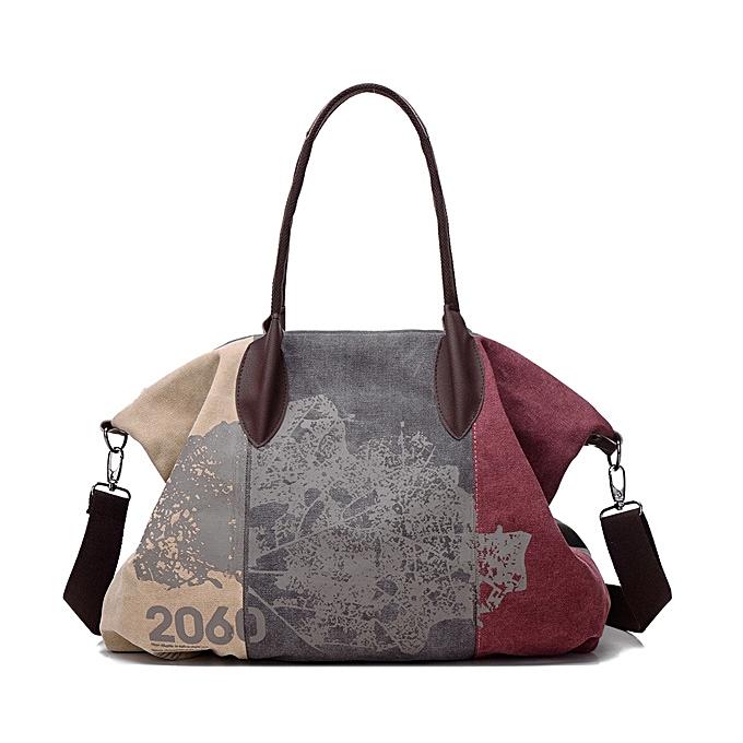 0fade636eac7 Fashion Vintage Large Capacity Women Canvas Casual Hobos Bag Ladies  Crossbody Bags Ruched Solid Handbag