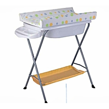 Baby bath stand with a changing table- orange theme