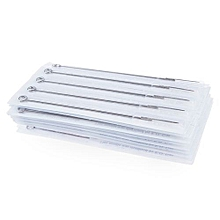 50Pcs Mixed Tattoo Needles 10 Sizes Round For Liner Shader Magnum 3 5 7 9 Rs - Silver