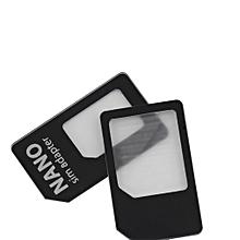 3 in 1 Nano SIM to Micro Standard SIM MICROSIM Adaptor Adapter for iPhone 5 Black