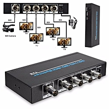 HD1080p 1x4 3G/HD/SD-SDI Splitter BNC 1 In 4 Out Video Distributor For HDTV